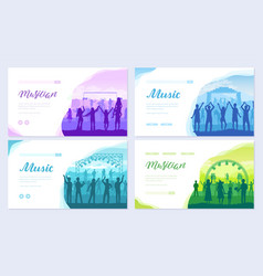 musical festival on outdoor air park vector image