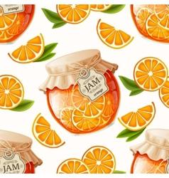Orange jam seamless pattern vector image