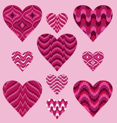 Patterned Hearts vector