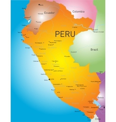 Peru country vector image