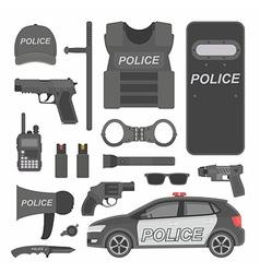 Police equipment vector