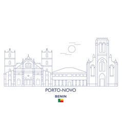 porto-novo city skyline vector image