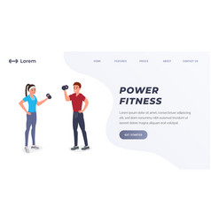 power fitness landing page vector image