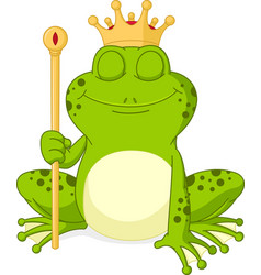 Prince frog cartoon vector
