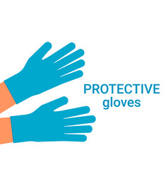 Protection human hands with individual gloves vector