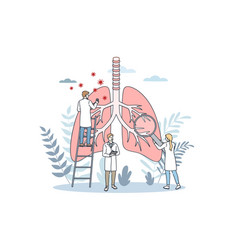 pulmonology and lungs healthcare concept vector image