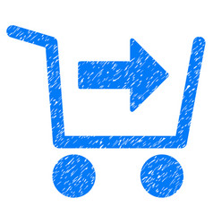 Purchase cart icon grunge watermark vector