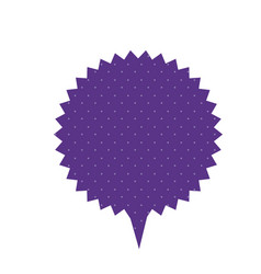 Purple chat star bubble icon vector