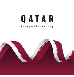 Qatar independence day celebration banner with vector