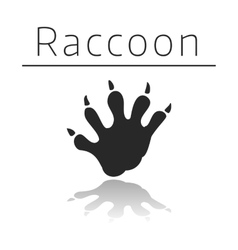 Raccoon animal track vector