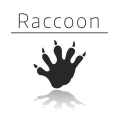 Raccoon animal track vector