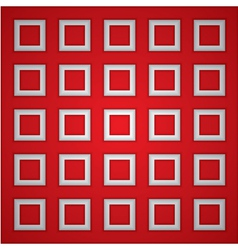 Red square background vector image
