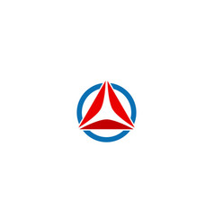 Round triangle shape initial company logo vector