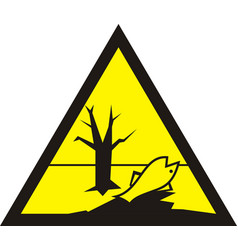 sign of poisonous in yellow triangle harmful vector image vector image