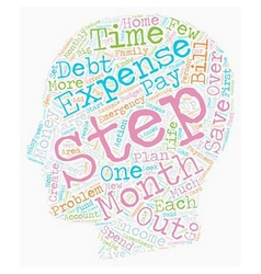 Simple Steps To Get Out Of Debt And Stay Out text vector image