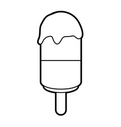 Sketch silhouette image ice cream lollipops on vector