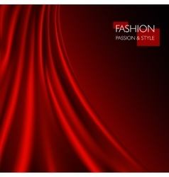 smooth elegant luxury red vector image