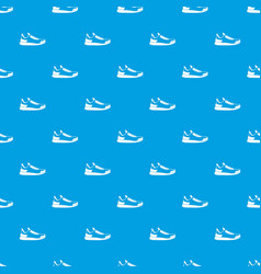 sneaker pattern seamless blue vector image