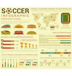 Soccer or football infographics or infocharts with vector image