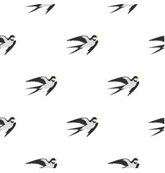 Swallow pattern flat vector
