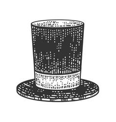 top hat cylinder sketch vector image