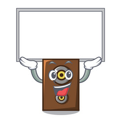 Up board speaker character cartoon style vector