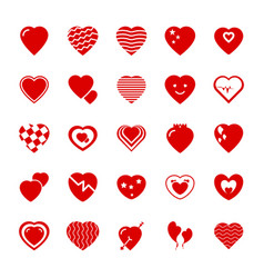 valentine day flat icons pack vector image