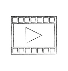 Video play button movie digital concept vector