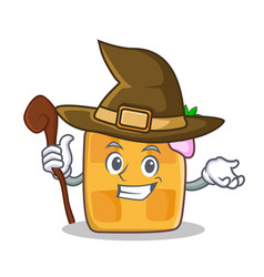 Witch waffle character cartoon design vector