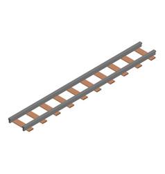 Wood railway icon isometric style vector