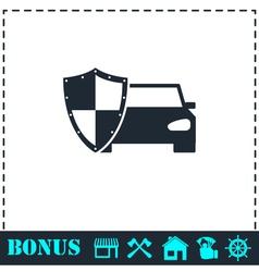 Car insurance icon flat vector image