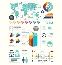 Modern design elements infographic template vector image