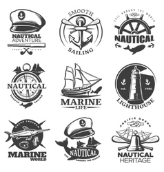 Nautical Emblem Set vector image