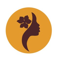 African american woman face profile- beauty sign vector