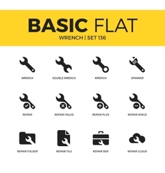 Basic set of Wrench icons vector image vector image