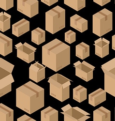 Cardboard box seamless pattern Paper packaging vector image vector image