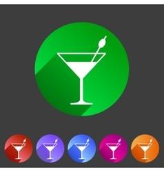 cocktail icon flat web sign symbol logo label vector image