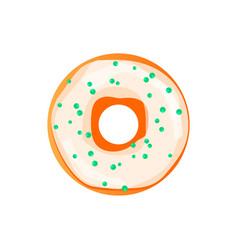 donut donut isolated on a light vector image vector image