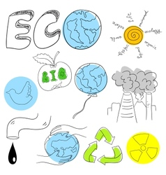 Ecology collection vector image vector image