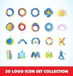 Logo set icon design collection vector image