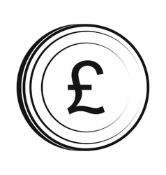 Money pound icon simple style vector image vector image