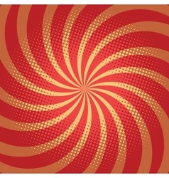 Red spiral pop art background vector image vector image