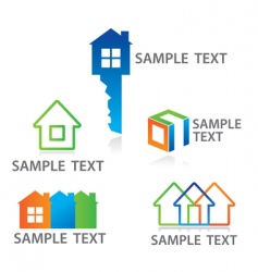 sign cottage construc vector image