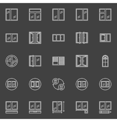 Window installation icons vector image