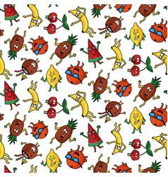 crazy fruit pattern vector image vector image
