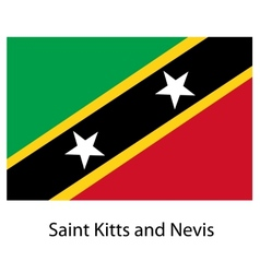 Flag of the country saint kitts and nevis vector image