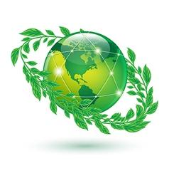 leaf earth vector image