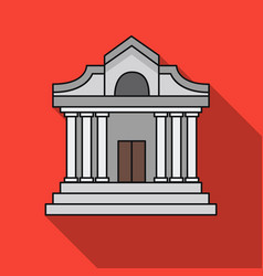 museum building icon in flat style isolated on vector image vector image