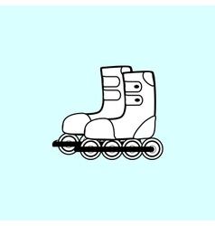 pair of roller skates sports Hobbies vector image