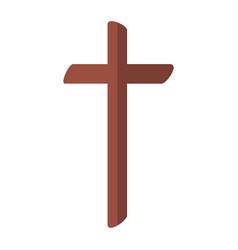 religious cross wooden icon vector image